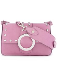 Orciani Shine Crossbody Bag Women Calf Leather One Size Pink Purple