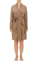 Arlotta By Chris Arlotta Women's Cashmere Fine Gauge Knit Robe Brown