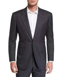 Stefano Ricci Two Piece Solid Cashmere Silk Suit Charcoal