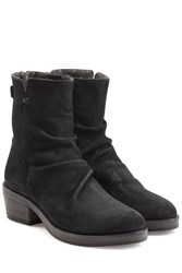 Fiorentini Baker And Sueded Leather Back Zip Boots Black