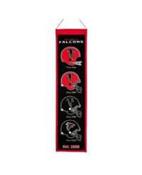 Winning Streak Atlanta Falcons Heritage Banner Black Red
