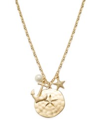 Charter Club Gold Tone Nautical Charm Pendant Necklace Only At Macy's