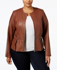 Inc International Concepts Plus Size Faux Leather Peplum Moto Jacket Only At Macy's French Cafe