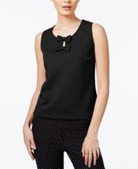 Maison Jules Bow Detail Keyhole Top Only At Macy's Deep Black