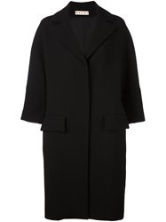 Marni Crepe Double Face Coat Black