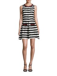 Msgm Striped Fit And Flare Dress