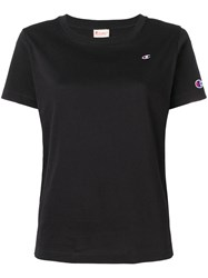 Champion Reverse Wave Woman Small Logo Cropped Tee Black