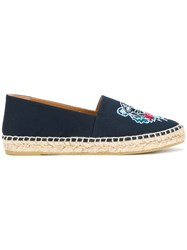 Kenzo Tiger Embroidered Espadrilles Blue
