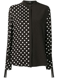 Paul Smith Ps By Polka Dot Print Shirt Black