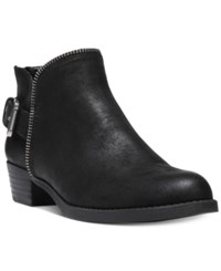 Carlos By Carlos Santana Cayenne Buckle Block Heel Booties Women's Shoes Black