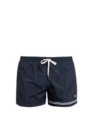 Danward Stripe And Logo Featured Swim Shorts Navy Multi