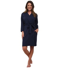 Jockey Cotton Essentials Robe Midnight Navy Women's Robe Blue