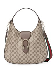 Gucci Dionysus Medium Gg Supreme Hobo Women Cotton Leather Canvas Metal One Size Nude Neutrals