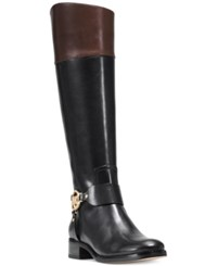 Michael Kors Fulton Wide Calf Riding Boots Women's Shoes Mocha