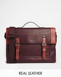 Ted Baker Leather Messenger Bag Red