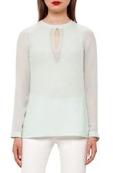 Akris Women's Cutout Silk Georgette Blouse
