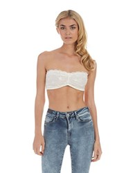 Free People Stretch Lace Bandeau White