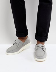 Eastland Popham Two Eye Boat Shoe In Grey