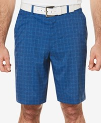 Pga Tour Men's Windowpane Plaid Golf Shorts Olympian Blue