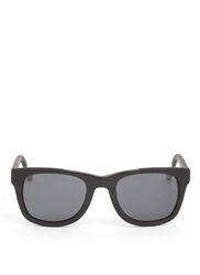 Kris Van Assche Rubberized Square Frame Optical Glasses Black