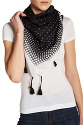 14Th And Union Ombre Dot Tassel Wrap Black