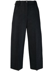 Nehera Cropped Wide Leg Trousers Black