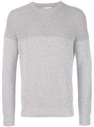 Brunello Cucinelli Crew Neck Jumper Nude Neutrals