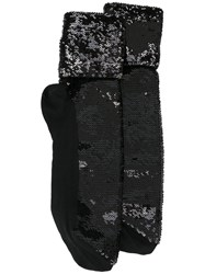 Saint Laurent Sequin Embellished Socks Black
