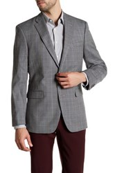 Tommy Hilfiger Multi Gray Checkered Two Button Notch Lapel Jacket