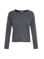 Velvet By Graham And Spencer Tirion Striped Cashmere Sweater