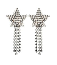 Jennifer Behr Shooting Star Crystal Earrings Silver