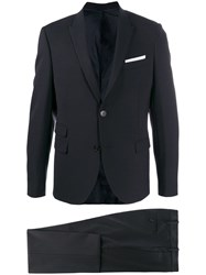 Neil Barrett Slim Two Piece Suit Blue