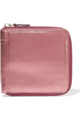 Marni Metallic Leather Wallet Pink