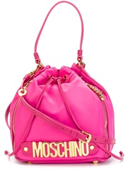 Moschino Logo Duffle Tote Pink And Purple