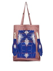 Craig Green Embroidered Puckered Canvas Tote Bag Purple