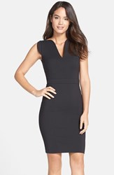 French Connection Women's 'Lolo' Stretch Sheath Dress Black
