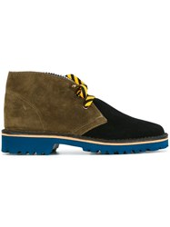 Pollini Panelled Desert Boots Brown