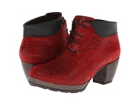 Wolky Jacquerie Red Dessin Suede Women's Boots Purple