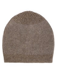 Rick Owens Knit Beanie Brown