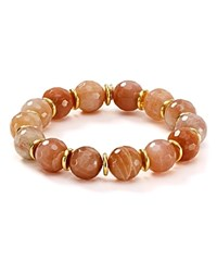 Bourbon And Boweties Stretch Bracelet Light Brown