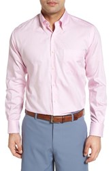 Peter Millar Men's Crown Soft Gingham Regular Fit Sport Shirt Retro Pink