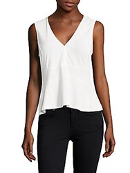 Bcbgmaxazria Amma V Neck Tank Top White