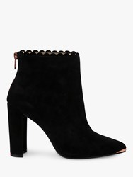 28adc70f018b Ted Baker Ofelia High Block Heel Ankle Boots Black Suede