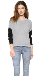 Autograph Addison Danby Sweater With Woven Sleeves Ice