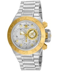 Invicta Unisex Swiss Chronograph Subaqua Stainless Steel Bracelet Watch 45Mm 10145