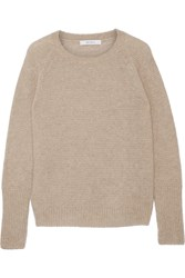 Max Mara Orbita Cashmere And Silk Blend Sweater Mushroom