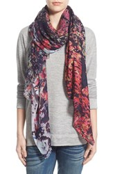 Lily And Lionel Women's Lily And Lionel 'Silas Rouge' Print Modal And Silk Scarf