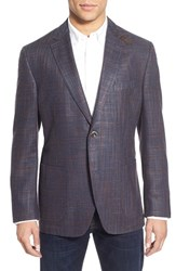 Men's Kroon Classic Fit Wool And Silk Sport Coat Rust