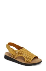 Bos. And Co. Saga Sandal Mustard Nubuck Leather