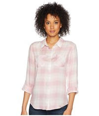Pendleton Plaid Roll Sleeve Soft Shirt Zephyr Ombre Clothing Pink
